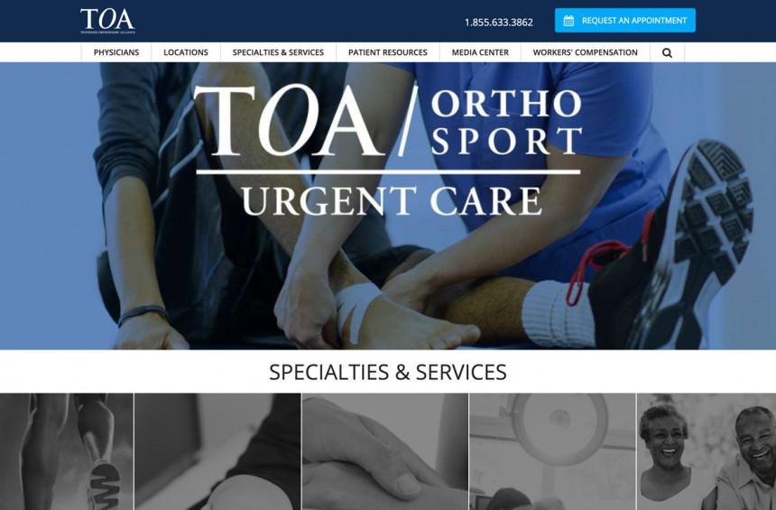 TOA Website Design