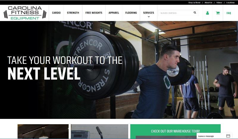 Carolina Fitness Equipment Website Design