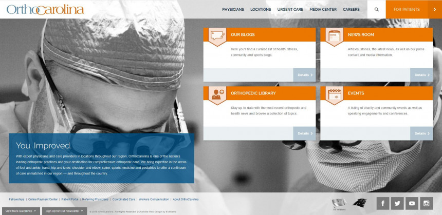 OrthoCarolina Website Design