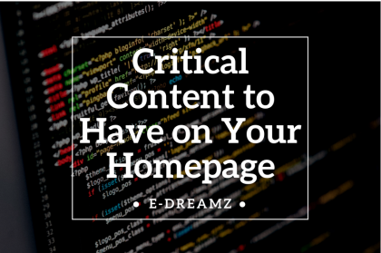Critical Content to have on Your Homepage