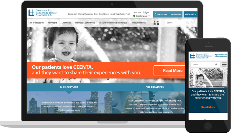 CEENTA Website Design
