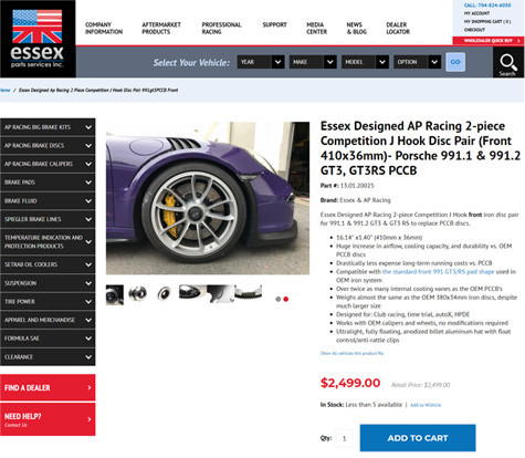 Essex Parts eCommerce Website