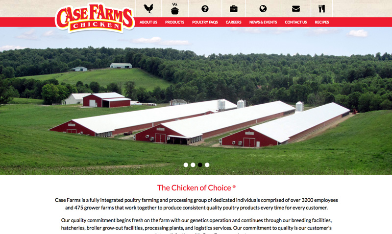 Case Farms Website