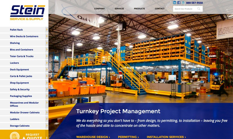 Stein Services & Supply Website