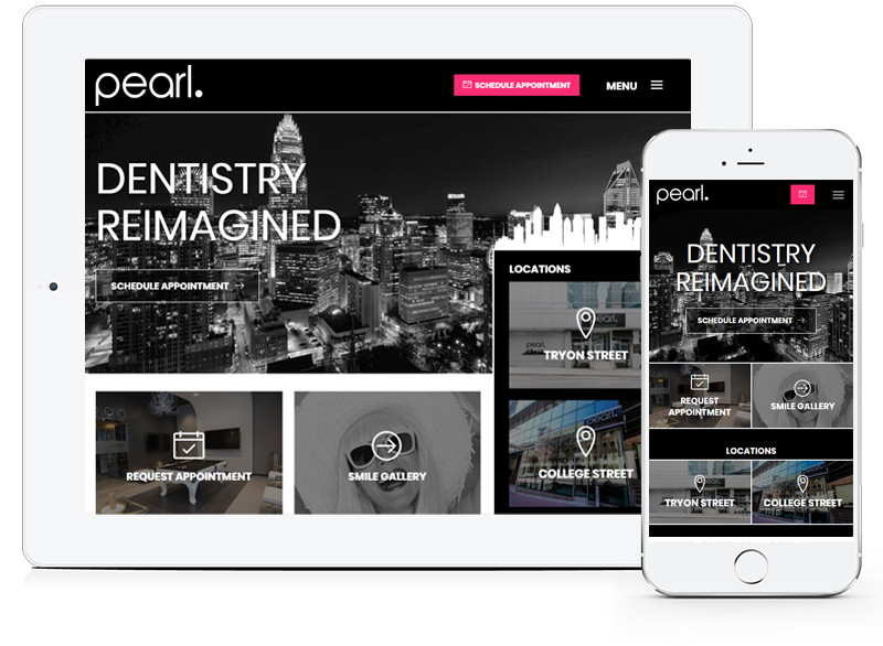 Pearl Dentist Healthcare Website by E-dreamz