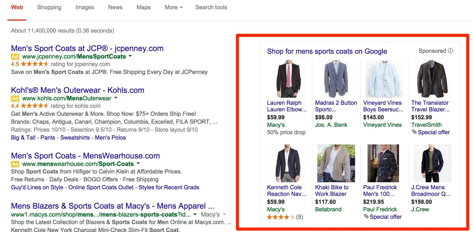 What is Google Shopping - Google Offers in the Shopping Center - image screenshot