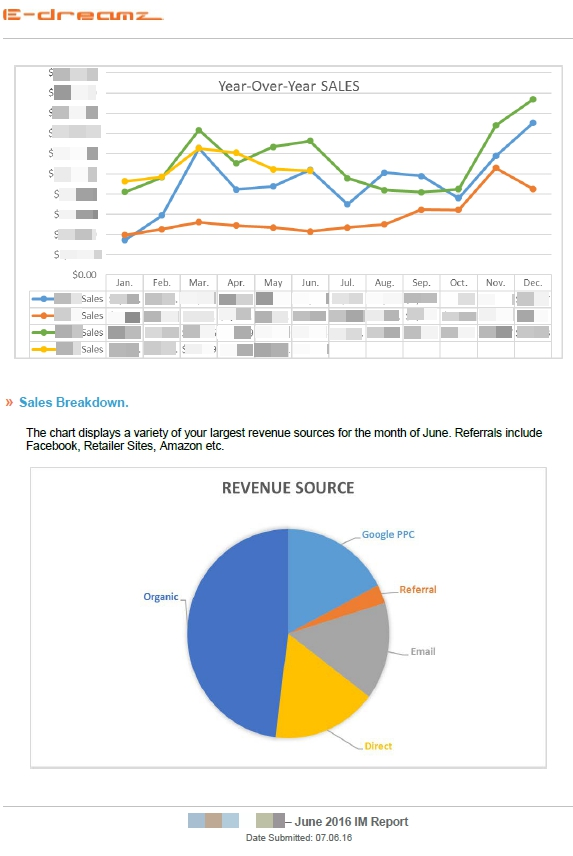 Graphs used in Digital Marketing Reports