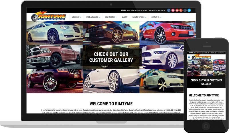 Rimtyme Custom Wheels Website Design E Dreamz